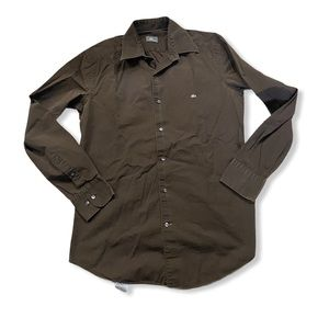 Lacoste Brown Dresshirt Size 40/ Medium